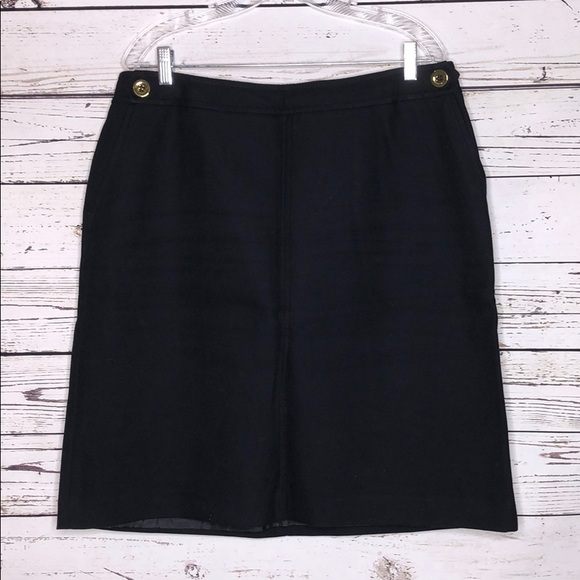 Talbots Dresses & Skirts - Talbots 14W Striped Gold Button Lined Pencil Skirt